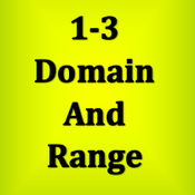 1-3 Domail and Range
