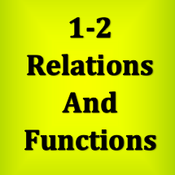 1-2 Relations and Functions