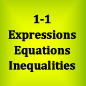 1-1 Expressions, Equations and Inequalities