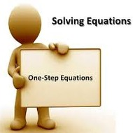 1-5 Solving One Step Equations