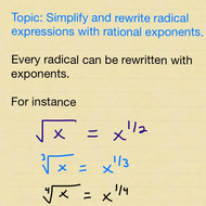 Simplify and Rewrite Radicals using Rational Exponents