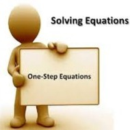 1-5 Solving One-Step Equations (due WED 9/10)