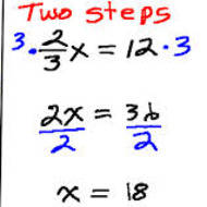 1-6 Solving Two-Step Equations