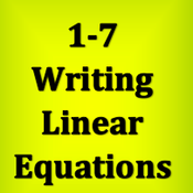 1-7 Writing Linear Equations