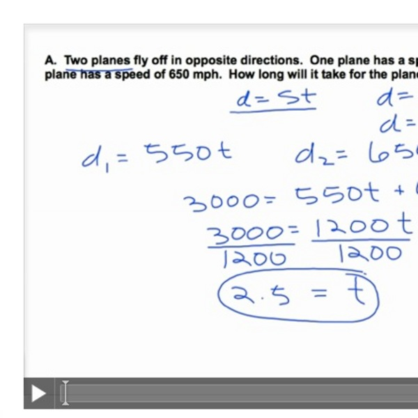 Weighted Average and Uniform Motion Problems