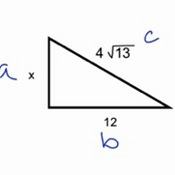 More Difficult Pythagorean Theorem Examples