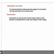 The Horizontal Line Test