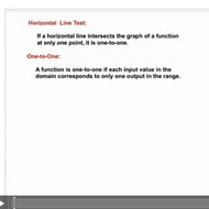 The Horizontal Line Test
