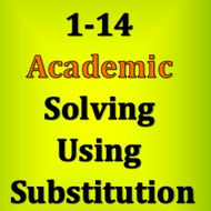 1-14 Solving Using Substitution