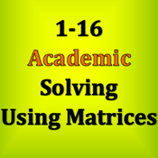 1-16 Solving Using Matrices
