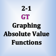 GT 2-1: Graphing Absolut Value Functions