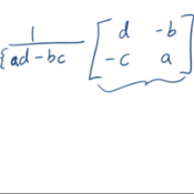 Inverses of 2x2 Matrices