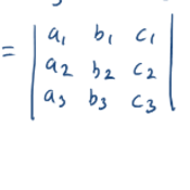 Using Determinants to Classify Systems of 3x3 Matrices