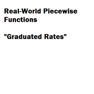 Real World Piecewise Functions