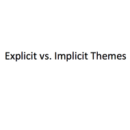 Explicit vs. Implicit Themes