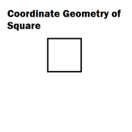 Coordinate Geometry of Square