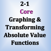 Core 2-1&2-2: Graphing and Transforming Absolute Value Functions