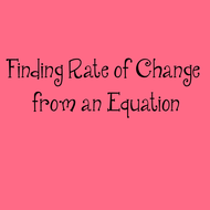 10-21 Finding Rate of Change from an Equation