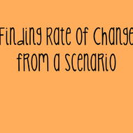 10-21 Finding Rate of Change from a Scenario