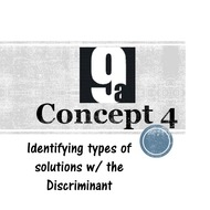 Chapter 9a, Concept 4 - Using the Discriminant