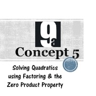 Chapter 9a, Concept 5 - Solving by Factoring