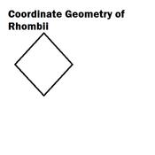 Coordinate Geometry of Rhombii