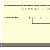 Finding Roots With The Remainder Theorem