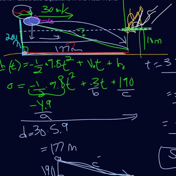 Quadratic Equations in the Real World