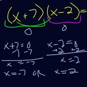 Solving Quadratic Equations in Factored Form Tutorials, Quizzes ...
