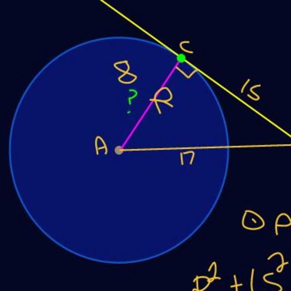 Solving for Radii and Tangent Segments