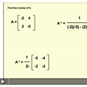 Inverses of 2x2 Matrices Tutorials, Quizzes, and Help | Sophia ...