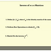 Inverses of nxn Matrices