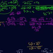 Using Conjugates to Rationalize Denominators