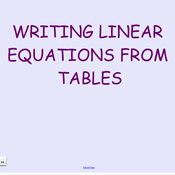 11-12 Linear Equations from Tables