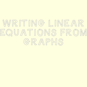 11-13 Linear Equations from Graphs