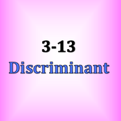 3-13 Determining Roots from the Discriminant