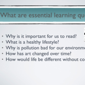 Essential Learning Questions