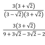 Introduction to Conjugates that Rationalize Denominators