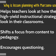 Lesson Planning with Marzano