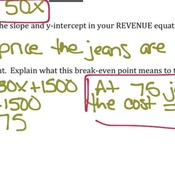 Unit 2.1 Lesson #3 Cost / Revenue Applications