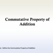 Addition is Commutative