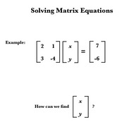 Solving Matrix Equations