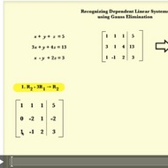 Recognizing Dependent Linear Systems
