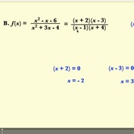 Finding the Zeros of a Rational Function