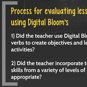 Evaluating Lesson Plans: Digital Bloom's