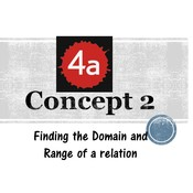 Chapter 4a, Concept 2 - Finding Domain and Range of a relation
