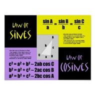 Topic 9-3:  Applications of Sines & Cosines