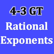 GT 4-3 Rational Exponents