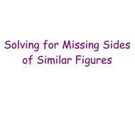 1-15 Missing Side of Similar Figures