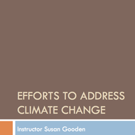 Efforts to address Climate Change